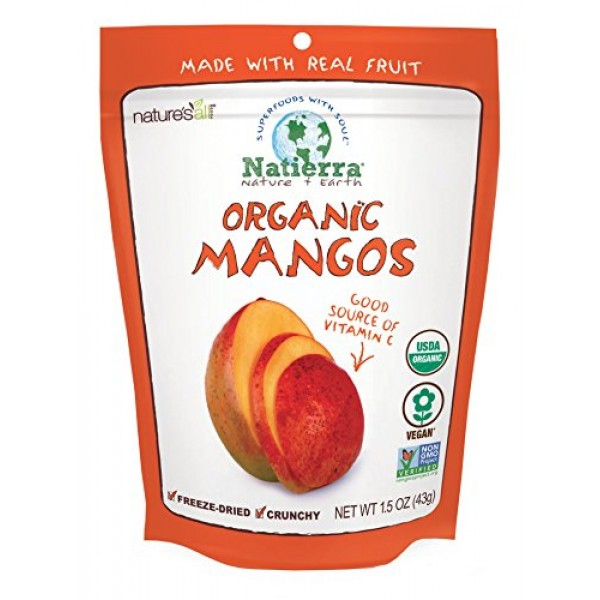 NATIERRA Natures All Foods Organic Freeze-Dried Mangoes | Non-G...
