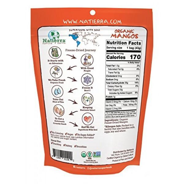 Natierra Natures Organic Freeze-Dried Mangoes | Gluten Free & V...
