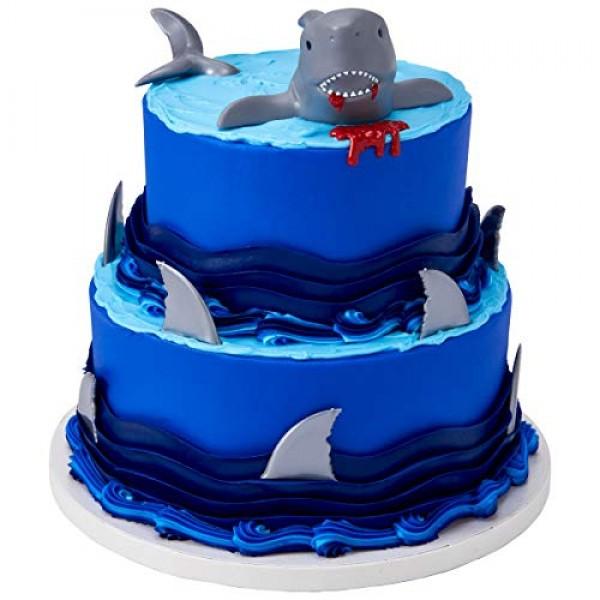 DecoPac Shark Creations Cake Topper PLUS 12 Shark Fin Cupcake Picks