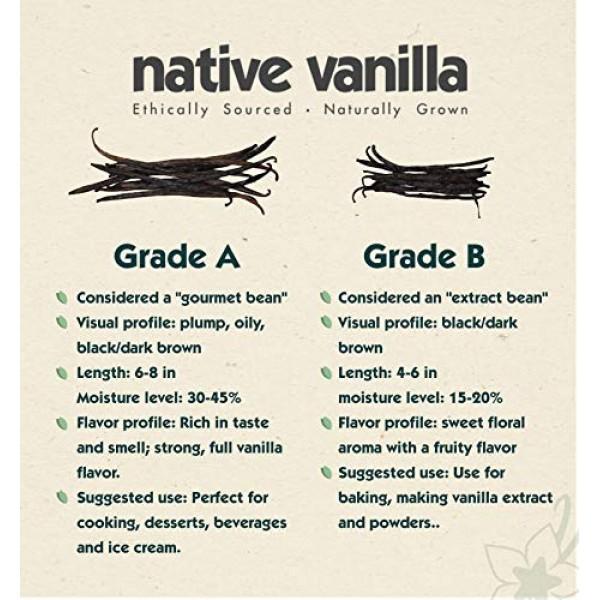 1/4 lb Bulk Bag – Grade B Tahitian Vanilla Beans – Native Vanill...