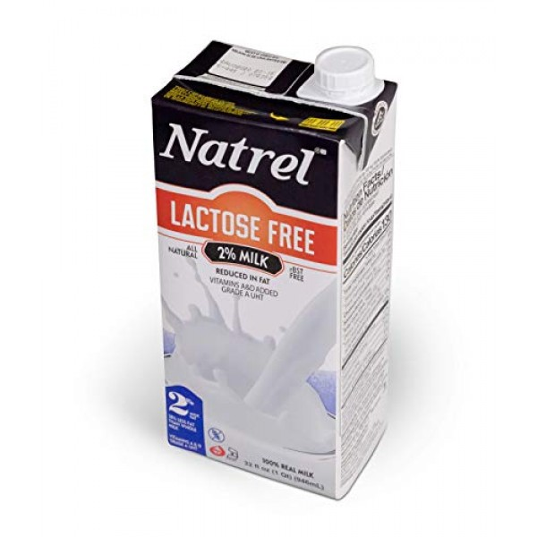 Natrel | 2% Lactose-Free Milk | 32 Ounce | Pack of 6 | Shelf Sta...