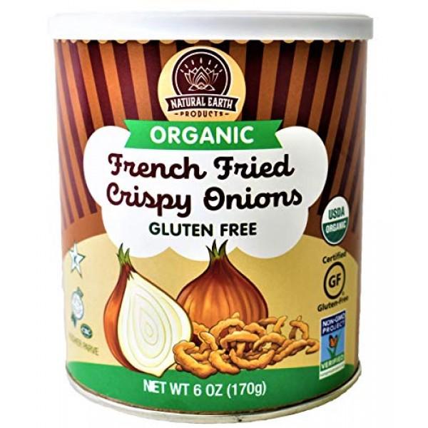 Organic French Fried Crispy Onions - Kosher, Vegan, Gluten-Free,...