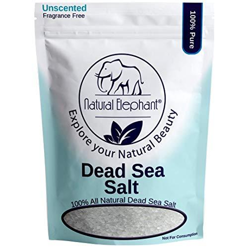 Dead Sea Salt Coarse Grain 2 lb 900 g by Natural Elephant 100%...