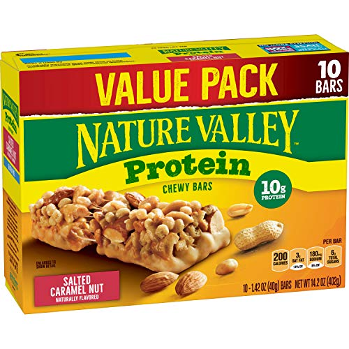Nature Valley Chewy Granola Bar, Protein, Salted Caramel Nut, 10...