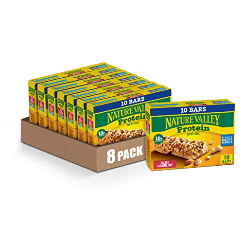 Nature Valley Gluten Free Salted Caramel Nut Protein Chewy Bars ...