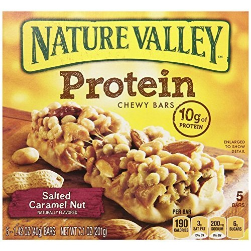 Nature Valley, Protein, Salted Caramel Nut Chewy Bar, 7.1oz Box ...