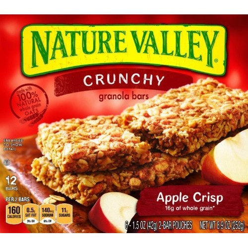 Nature Valley, Crunchy Granola Bars, Apple Crisp, 12-Count, 8.9o...