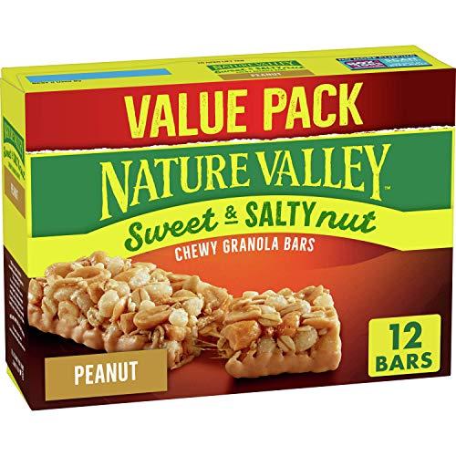 Nature Valley Sweet & Salty Nut Granola Bar Peanut Value Pack 12...