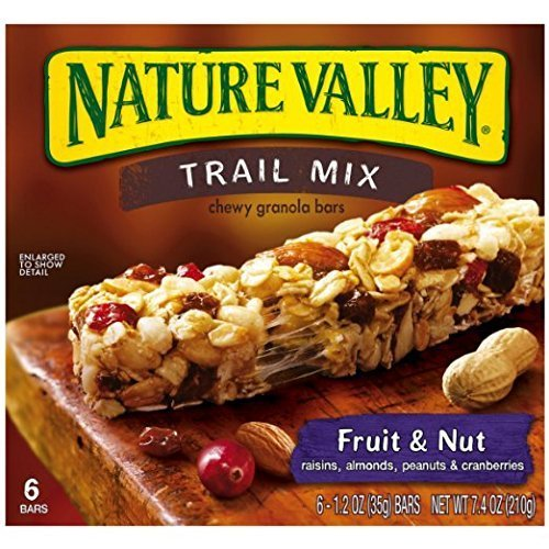 Nature Valley Fruit and Nut Trail Mix Chewy Granola Bars, 6 Coun...