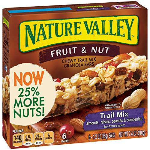 Nature Valley Chewy Granola Bar, Trail Mix, Fruit and Nut, 7.4 O...