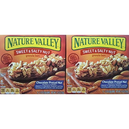 Nature Valley Sweet & Salty Chocolate Pretzel Nut Granola Bars, ...