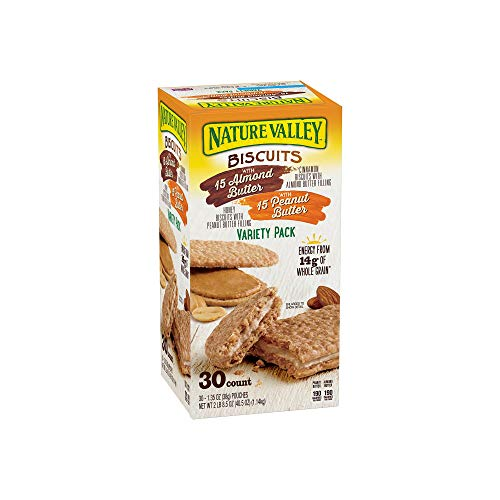 An Item of Nature Valley Biscuit Sandwich Almond Butter & Peanut...