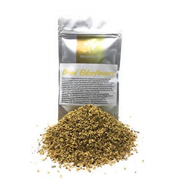 Dried Elderflowers - Used In Beers, Wine, Cider, Cordials, Champ...