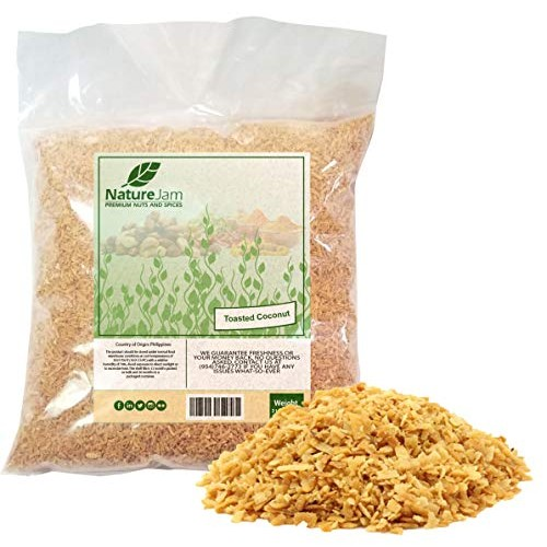 Toasted Coconut Flakes 2 POUNDS - Desiccated Coconut Color-Brown...
