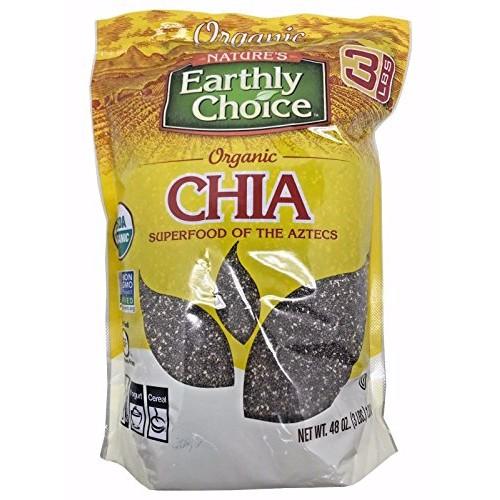 Natures Earthly Choice Organic Chia Seeds Net Wt. 48 oz 3 lbs