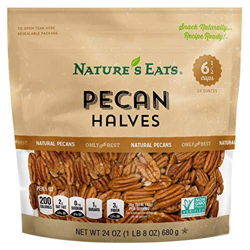 Natures Eats Pecan Halves, 24 Ounce