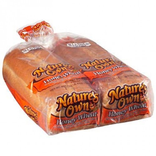 Natures Own Honey Wheat Bread 20 oz. loaf, 2 pk. A1