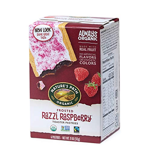 Nature's Path Frosted Razzi Raspberry Toaster Pastries, Healthy,...