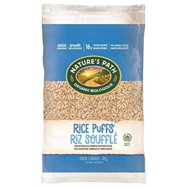 Nature's Path Rice Puffs Cereal, Healthy, Organic, Gluten-Free, ...