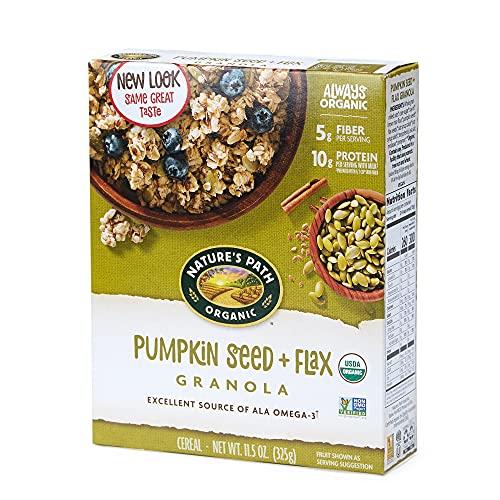 Nature's Path Pumpkin Seed + Flax Granola, Healthy, Organic & Gl...