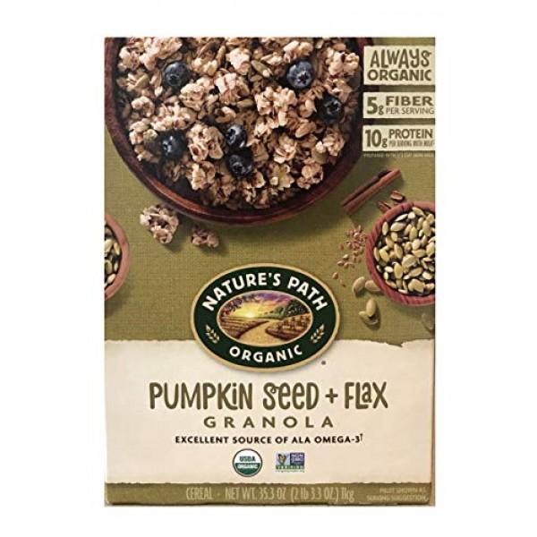 Natures Path Organic Pumpkin Flax Plus Granola, 35.3 Ounce