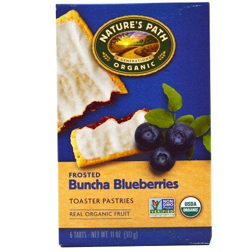Natures Path Toaster Pastries Frosted Blueberry, 11.0 oz Pack ...