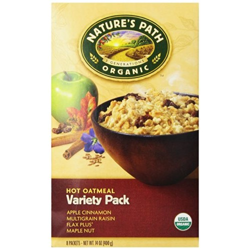 Natures Path Organic Instant Hot Oatmeal Variety Pack -- 8 Packets
