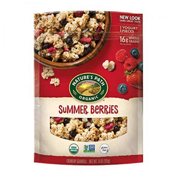 Natures Path Gluten-Free Summer Berries Granola, 11 Ounce Pack...