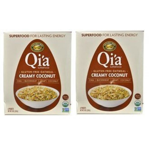 Qia Superfood Organic Hot Oatmeal - Creamy Coconut - 2 Boxes wi...