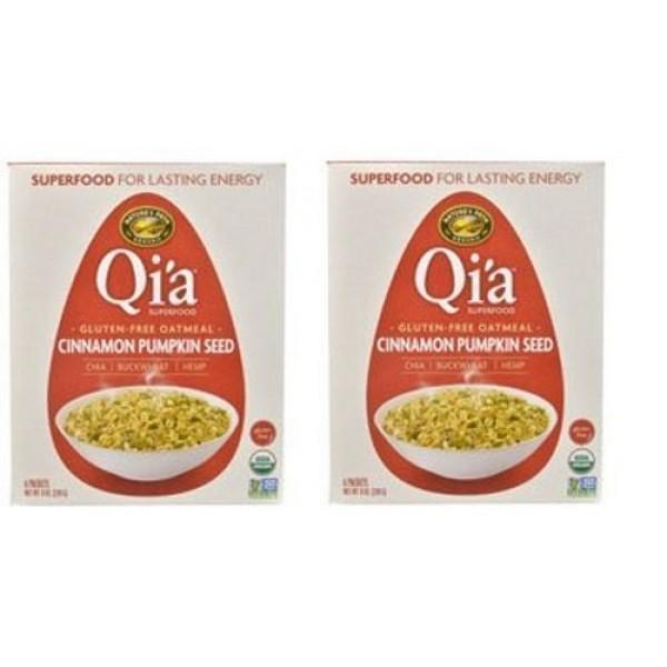 Qia Superfood Organic Hot Oatmeal - Cinnamon Pumpkin Seed - 2 B...