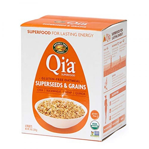 Nature's Path Qia Superfood Super-Seed and Grains Instant Oatme...