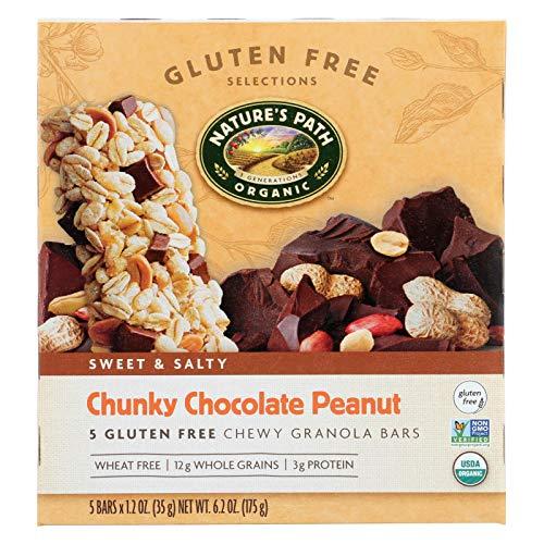 Natures Path Organic Granola Bar - Chunky Chocolate Peanut - Ca...
