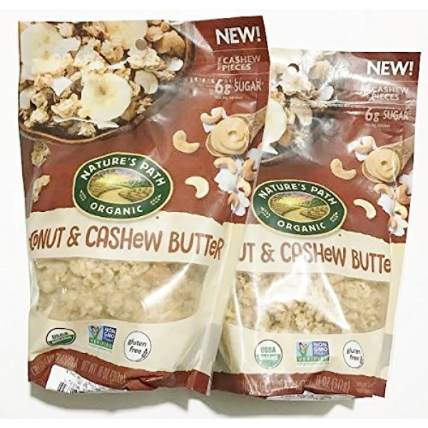Natures Path Gluten Free Crunchy Granola - Coconut & Cashew But...