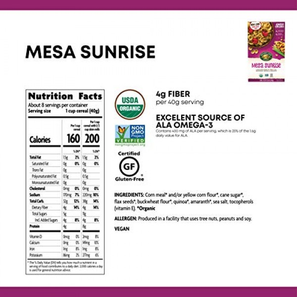 Natures Path Mesa Sunrise Cereal, Healthy, Organic, Gluten-Free...