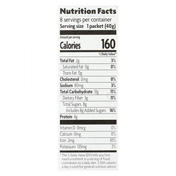 Natures Path Organic Brown Sugar Maple Hot Oatmeal, 11.3 Ounce -...