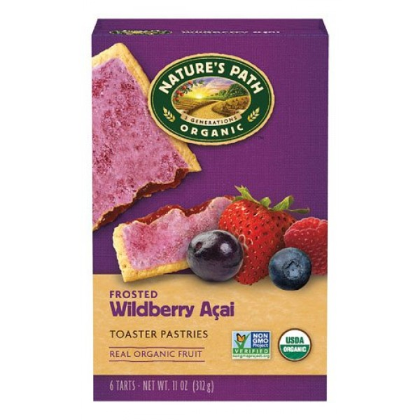 Natures Path Organic Frosted Toaster Pastries Wildberry -- 6 Ba...
