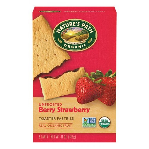Natures Path Organic Toaster Pastries Strawberry -- 6 Bars - 2 pc
