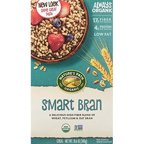 Natures Path, Smart Bran Cereal, Organic, 10.6 Ounce Pack of 1
