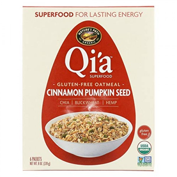 Natures Path Qia Superfood Gluten-Free Oatmeal - Cinnamon Pumpk...