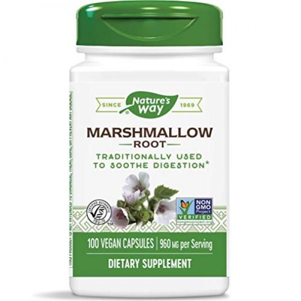 Natures Way Premium Herbal Marshmallow Root 480 mg per capsule,...