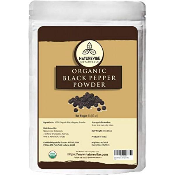 Malabar Black Pepper Black Tellicherry peppercorn Ground, 1 po...