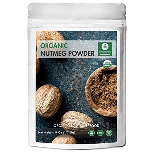 Naturevibe Botanicals Organic Nutmeg Powder 8oz | Non-GMO and Gl...