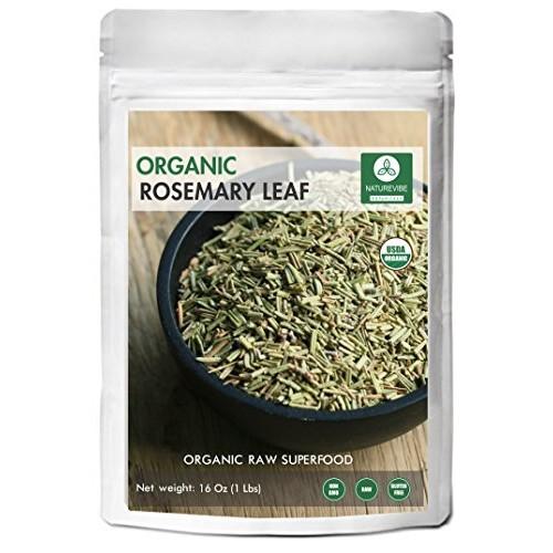 Naturevibe Botanicals Organic Whole Rosemary leaf, 1 Pound