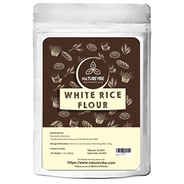 Naturevibe Botanicals White Rice Flour 2lbs | Non GMO and Gluten...