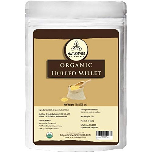 Naturevibe Botanicals Organic Hulled Millets, 2lbs | Non-GMO and...