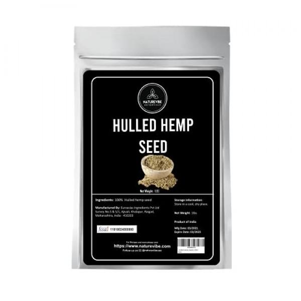 Naturevibe Botanicals Organic Hulled Hemp Seeds, 1lb | Non-GMO a...