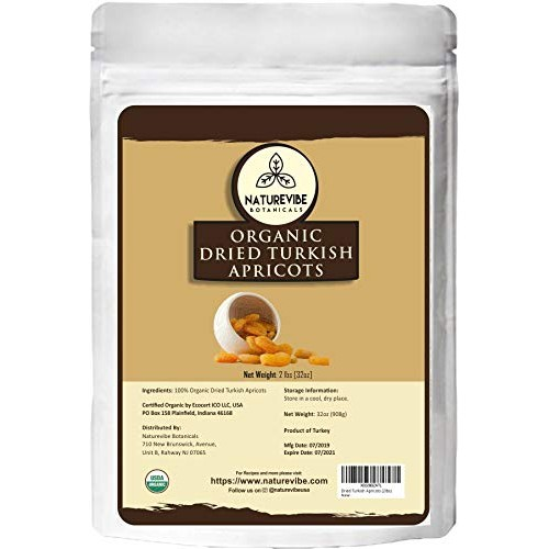 Naturevibe Botanicals Organic Dried Turkish Apricots, 2lbs | Non...