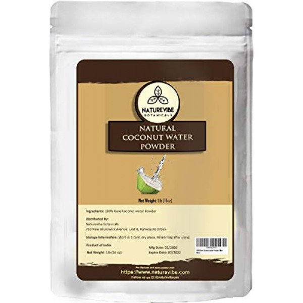 Naturevibe Botanicals Coconut water powder, 1lb   100% pure and ...