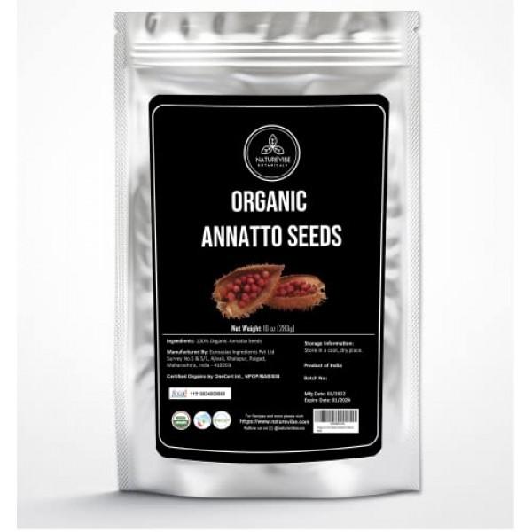 Naturevibe Botanicals Organic Annatto Seeds, 10 ounces | Non-GMO...