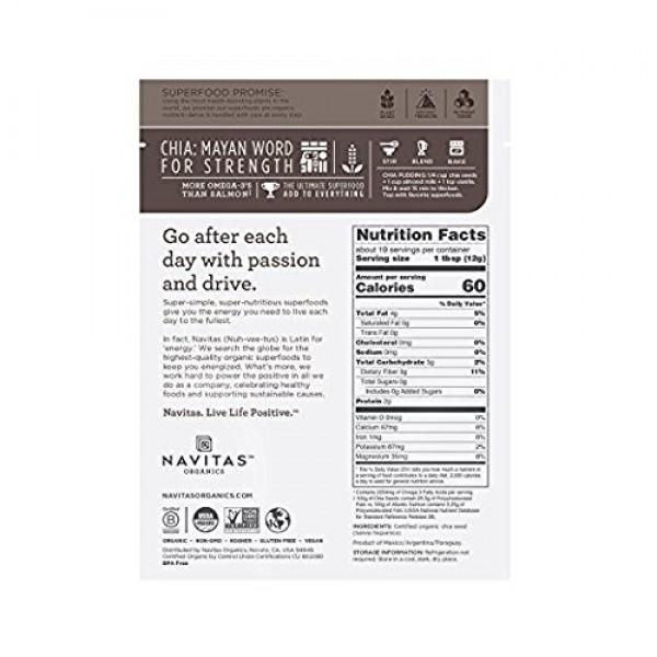 Navitas Organics Chia Seeds, 8 oz. Bag — Organic, Non-GMO, Glute...